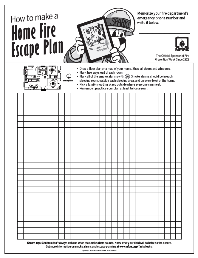 Home Escape Plan for Fires